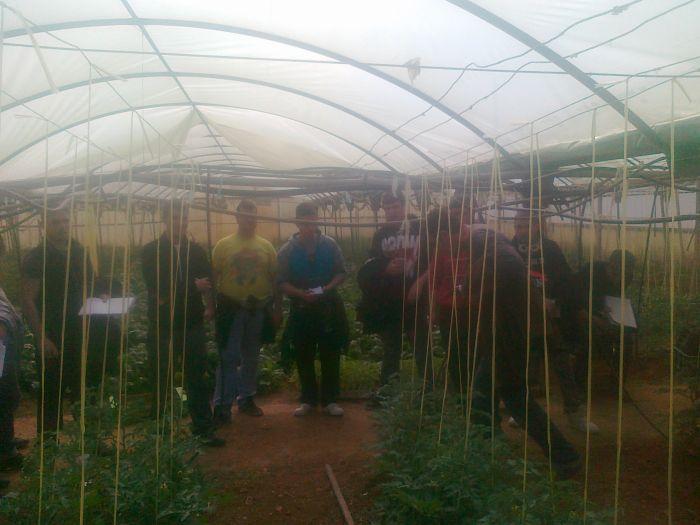 Verdures Ecològiques Joan Castellà > <b>NOTÍCIES</b> > Visita dels alumnes de l´Escola Agrària d´Alcarràs