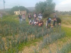 Visita de los alumnos de la Escuela Agraria de Alcarrás