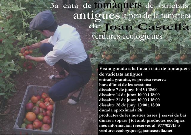Verdures Ecològiques Joan Castellà > <b>NOTÍCIES</b> > III Edició de la Cata de Tomàquets