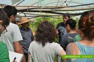 Visita de los alumnos del Máster de Agricultura Ecológica de la Universidad de Barcelona